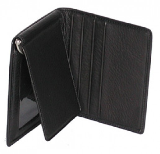 Leather Money Clip Bifold Wallet