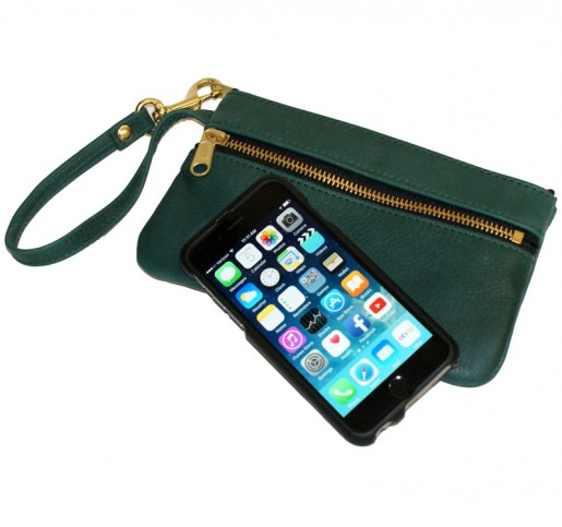 Double Zippered iPhone Wrist Clutch