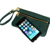 Double Zippered iPhone Wrist Clutch: Image