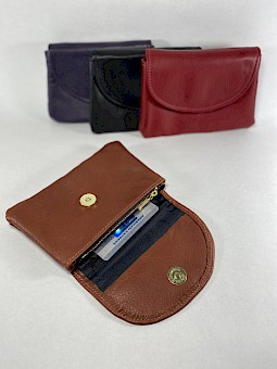 Medium Size Leather Wallet Clutch