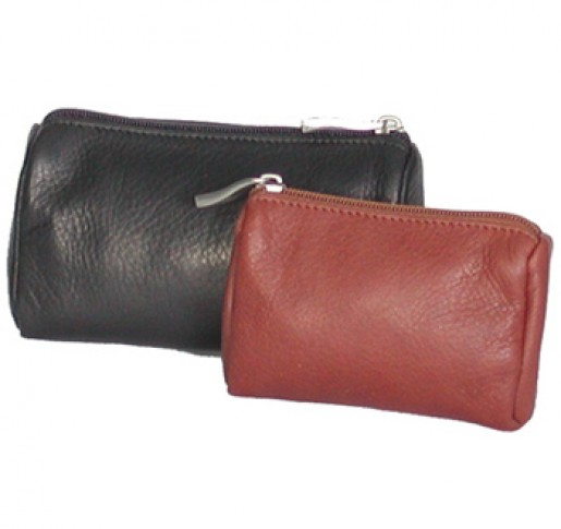 Large Leather Zippered Pouch