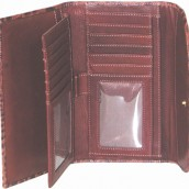 Ladies Crocodile Leather Checkbook Wallet: Image