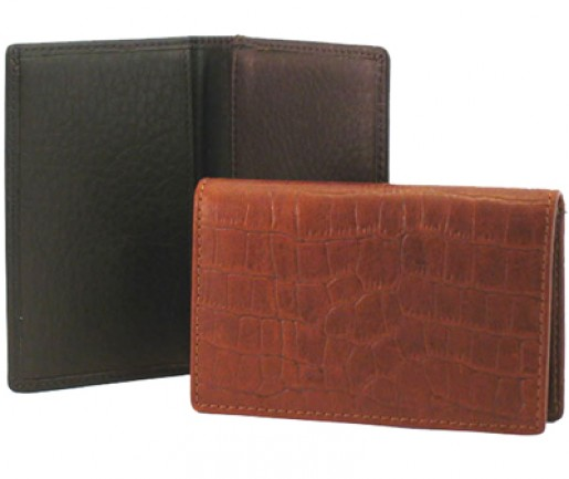 Mississippi Collection Leather Card Case