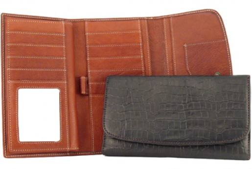 Mississippi Collection Women's Leather Clutch Wallet