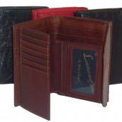 Double Flap Ladies Alligator Leather Wallet: Image