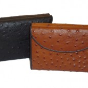 Double Flap Ladies Ostrich Leather Wallet: Image