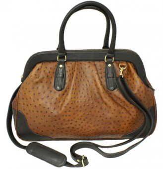Small Ostrich Leather Doctor Bag