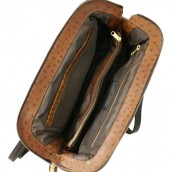 Small Ostrich Leather Doctor Bag: Image