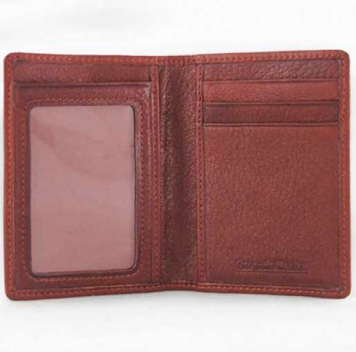 Folding Leather ID Card Case