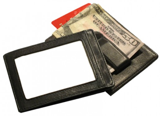 Leather ID Money Clip Wallet