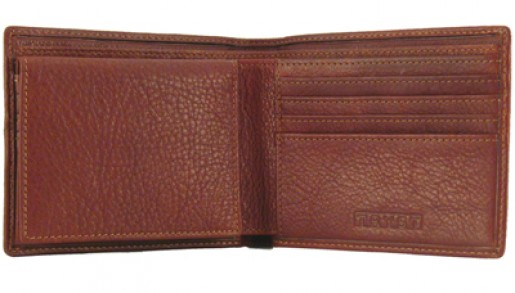 Leather Pass Case Wallet