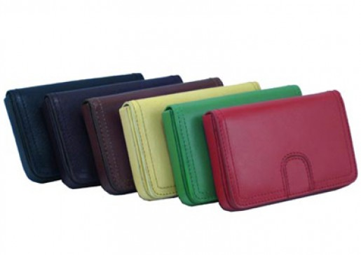 Bright Colored Leather Card Case